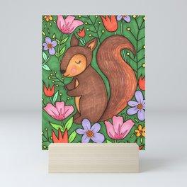 Spring Squirrel Mini Art Print