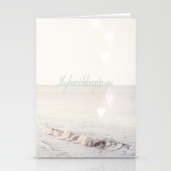My heart belongs to you Stationery Cards