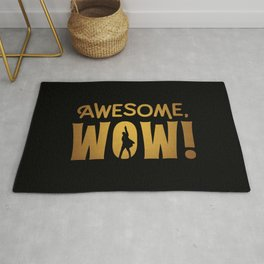 Awesome, Wow! Hamilton King George III Quote Rug