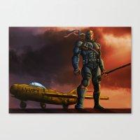 deathstroke Canvas Prints featuring Deathstroke by Dushan Silva
