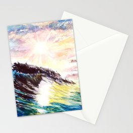 Majestic Wave at Sunset Stationery Cards