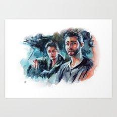 without us - sterek Art Print