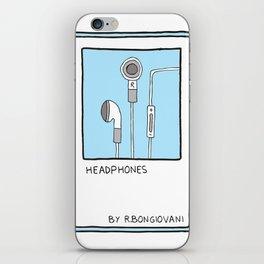 HEADPHONES Card iPhone Skin