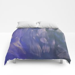 Purple Brush Strokes Comforters