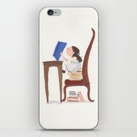 roald dahl iPhone & iPod Skins featuring Matilda by Verity
