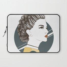Zodiac: Illustration of Capricorn zodiac sign as a beautiful girl. Laptop Sleeve