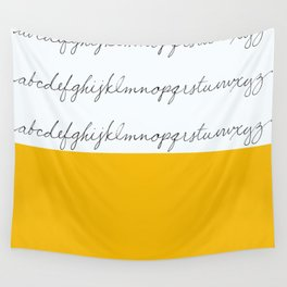Alphabet-Yellow Wall Tapestry
