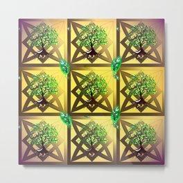 Celtic Tree Pattern Metal Print