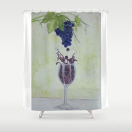Metamorphosis - From Vine to Wine in the Finger Lakes Shower Curtain