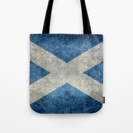Flag of Scotland, Vintage retro style Tote Bag