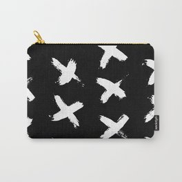 The X White on Black Carry-All Pouch