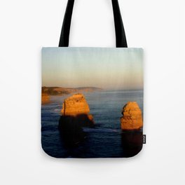 Glowing Rock Stacks Tote Bag