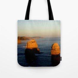 Glowing Rock Stacks Tote Bag