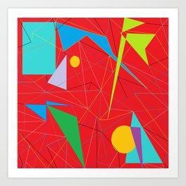 Euclid's Spider Webs Art Print