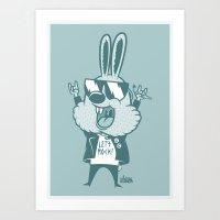 zuko Art Prints featuring Bunny Zuko by Johnny Cobalto