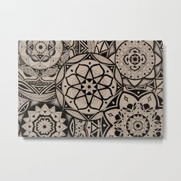 Black and White Maze Metal Print