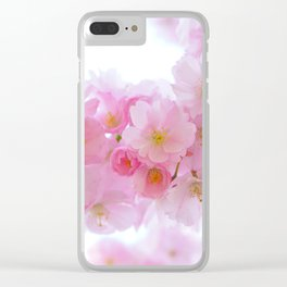 Closeup of a Blossoming Japanese Cherry Tree Clear iPhone Case