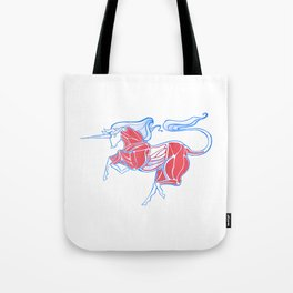Cross-Section of a Unicorn (No Background Ver.) Tote Bag