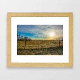 Alberta Skyline Framed Art Print