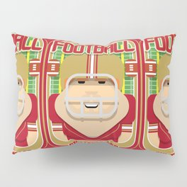 American Football Red and Gold - Enzone Puntfumbler - Josh version Pillow Sham