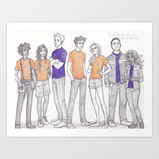 seven halfbloods Art Print