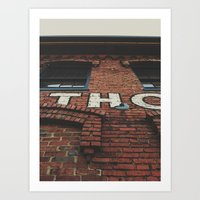 nashville Art Prints featuring Nashville by Kyle Barrett
