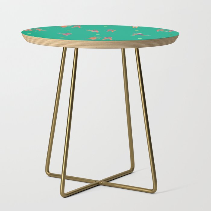 Tennis_Girls_Side_Table_by_leah_reena_goren__Gold__Round