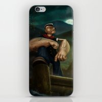 popeye iPhone & iPod Skins featuring Popeye by Geison Araujo