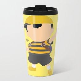 Ness(Smash)Yellow Metal Travel Mug