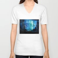northern lights V-neck T-shirts featuring Northern Lights by VivianLohArts
