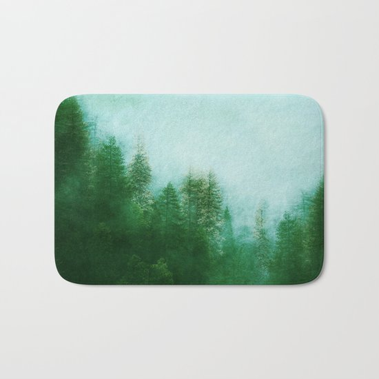 Dreamy Spring Forest Bath Mat