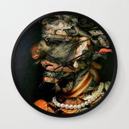 "Giuseppe Arcimboldo ""Four elements - Water"" Wall Clock"