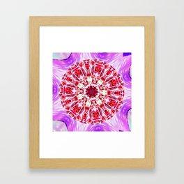 Royal Rose Radiant Orchid Kaleidoscope Framed Art Print