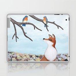 fox and eastern bluebirds Laptop & iPad Skin