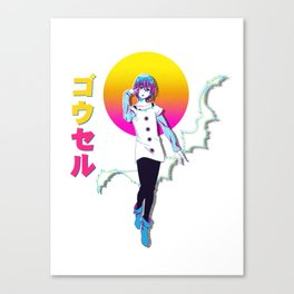 Gowther Retrowave Nanatsu No Taizai Canvas Print