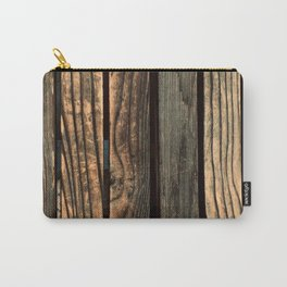 Urban Industrial Repurposed Wooden Planks Carry-All Pouch