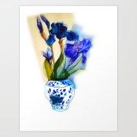 aelwen Art Prints featuring Iris by Aelwen
