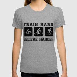 Triathlon Train Hard Gift T-shirt