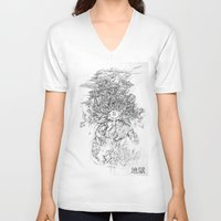 hell V-neck T-shirts featuring Hell  by Tim Lord Art