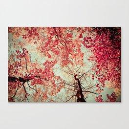 Autumn Inkblot Canvas Print
