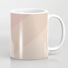 Chevron Geometry 4. Natural peachy Coffee Mug