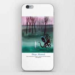 Pulpo extraterrestre y conejo 2 por Diego Manuel. iPhone Skin