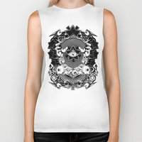 all seeing eye Biker Tanks featuring All seeing eye by Tshirt-Factory