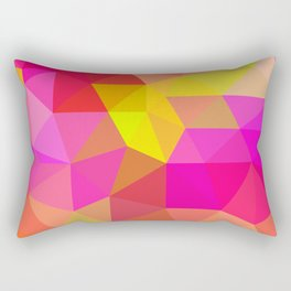 Citrus Candy Low Poly Rectangular Pillow