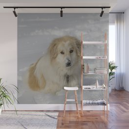 Patricia the Snow Dog Wall Mural