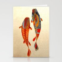japanese Stationery Cards featuring Kolors Koi by Fernando Vieira