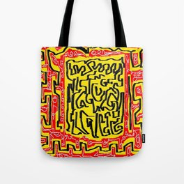 Laberinto red yellow Tote Bag
