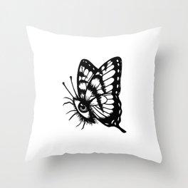 BUTTERFLEYE Throw Pillow
