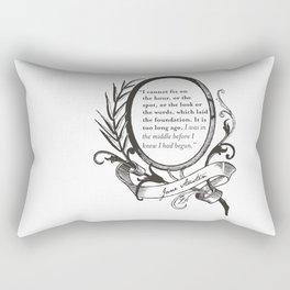 "Jane Austen ""In the Middle"" Rectangular Pillow"