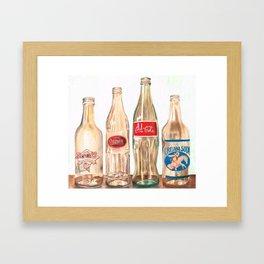 Glass Bottles Framed Art Print